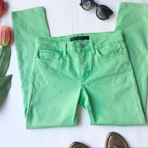 Joe's Jeans Skinny Ankle Electric Lime